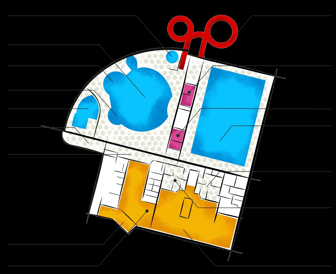 1. podlaží - krytý bazén